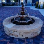Hotel outdoor fountain