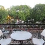 Private room balcony overlooking Merida's main square