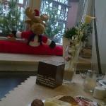 Decorazioni natalizie a colazione