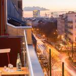 Aussicht vom Balkon Richtung Potsdamer Platz