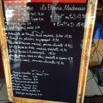 Le menu carte
