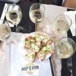 Bruschetta and local wine