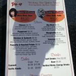 The menu