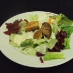 House salad with beets, kidney beans, croutons, Homemade Dressings