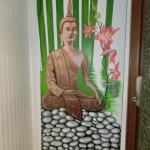 Buddha in a hotel named for the Pope?