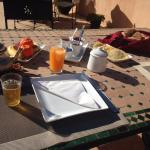 Lovely breakfast on the rooftop
