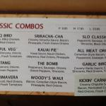 Woodstock's Pizza - Partial menu
