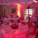 The Wedding Breakfast Room all set up