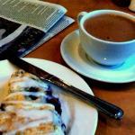 mayan chocolat and berry scone