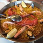 Seafood (lobster) paella