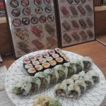 Sushi picture menu and what my food looks like