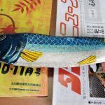 二ヶ領せせらぎ館にあった川石の魚、欲しい