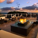 Greet the evening with an Ocean and Sunset View from our OverVue Deck