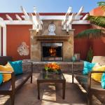 Spa Outdoor Patio with Fireplace
