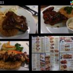 My favorite menu: rib platter, lamb kebab and roast chicken