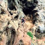 Climbing with instructor Chai of Railay Rock Climbing Shop