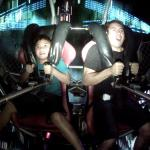 Riding the Sling Shot Ride in Tumon, Guam