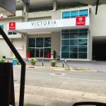Front door of Clarion Victoria Panama City, Panama