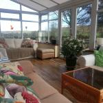 Conservatory with views to outstanding countryside