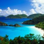 Famous Trunk Bay Beach, US National Park. 6 minute drive.