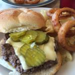 Cheeseburger with Onion Rings!