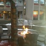 Toasty outdoor seating area!