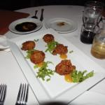 Lobster fritters at Palmilla of Victoria House, Ambergris Caye