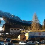 Pista da sci di fronte all'hotel