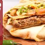 Taco Pizza una especialidad nuestra mezcla de taco y quesadilla