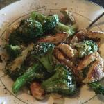 Sauteed Broccoli with Grilled Chicken