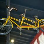 Bike built for two hanging from ceiling