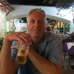Enjoying a Sol at Deb's in Ixtapa