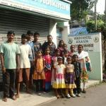 Children in front of Kolkata Youth Hostel with the caring staff