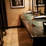 an incredible bathroom - way too fancy for a movie house!
