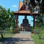 A great Buddha dominates the entrance area of The King Norodom Sihanouk-Angkor Museum.