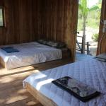 wooden bungalow with 2 beds