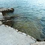 Вход в море - плиты
