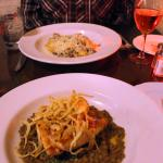 salmon with green lentils & pork tenderloins