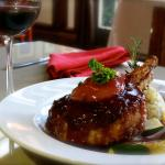 Crusted double pork chop