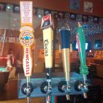 Great selection of draught beers on tap.