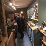 The bar at The Greyhound
