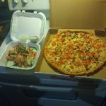 Caprese salad and Margarita Pizza