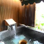 房內露天泡湯池