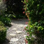 Pathway to the garden jacuzzi