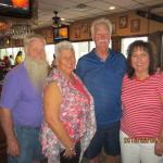 Left to right:  Jim & Darlene Varner with cousin, Jerry (the honored) and Carol Wright