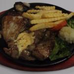 Fish + Pork steak - 119 Baht