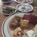 Polish meatball dinner combo plates