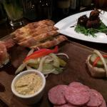 Charcuterie and Devils on Horseback
