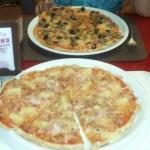 Nuestras estupendas pizzas.