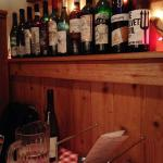 Vintage bottles scrawled on by enthusiastic customers add friendly kitsch and history to the boo